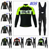 autumn ale - Ale New Arrival Cycling Jerseys Long Sleeves Autumn Style For Men Bike Wear With Gel Padded Bib Pants Size XS XL Bicycle Clothing
