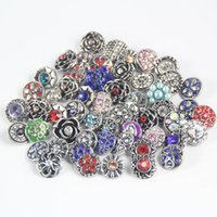 Wholesale hot new style mm rhinestone snap button charm jewelry for unisex women and men snap jewerly ZM020