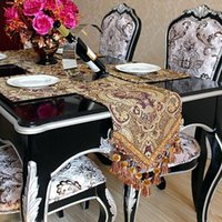 antique tablecloths - High end Embroidered Table Runner Antique Features Classical Oriental Tablecloths Table Flag