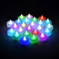 Wholesale 24pcs Flameless Tealight Candles for Christmas Decorations LED Nights Light Holiday Lighting Wedding Decoration Party Supply