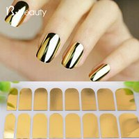 Wholesale New Arrival Nail Art Stickers Gold Silver Black Full Cover Nail Foil Patch Wraps Adhesive DIY Nail Decoration Tools