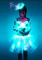party ballet dance bars - LED fluorescent ballet dance skirt glowing princess dress banquet loaded bars led luminous performance service