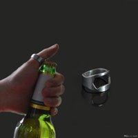 bartender bottle openers - DHL Hot Sale Bartender Tool Cool Design Ring Opener Cheap Stainless Steel Finger Ring Shaped Beer Bottle Opener