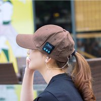 Wholesale Bluetooth Music Earphone Hat Sunhat with Bluetooth Travel Sport Bluetooth Headset Stereo Headphone Earphone High end Quality for Wholesales