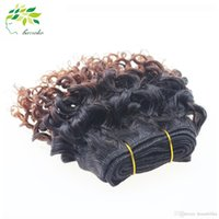 Cheap Sale !! Brazilian Curly Bundles 3pcs Hair extension Brazilian Kinky Curly Human Hairstyle Ombre Two Tone Cheveux bouclés