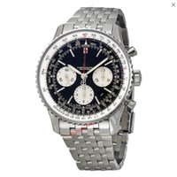 Wholesale Luxury Brand New N vitimer Black Dial Chronograph Stainless Steel Men s Watch AB012012 BB01SS