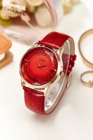 battery density - genuine leather band wristwatch zircon rhinestone high density glass quailty brand stuedents gift clock shinning fashion crystal timepiece