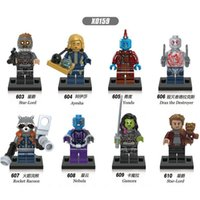 Lego Compatible Star Wars Chenghai 8pcs lot Super Heroes Guardians of the Galaxy Star-Lord Nebula Yondu Drax the Destryer Rocket Racoon Building Blocks Kids Toy X0159