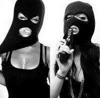 Beanies para las mujeres España-Moda 2016 unisex mujeres hombre tapa completa máscara de esquí tres 3 agujeros Balaclava Knit Hat cálido invierno estiramiento nieve máscara cap Gorro CK1074