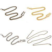 Nuevo estilo de bronce / de plata de la vendimia más color para la cadena al por menor del collar del sostenedor del reloj de bolsillo de la aleación al por menor para las mujeres de los hombres