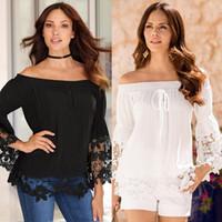 al por mayor led blanco camisa-Traje de vestir Nuevo patrón de una palabra plomo blanco emoji camiseta jordania Pity cordón de la parte de la manga mujeres de algodón blusa conejo T-shirt más tamaño