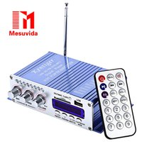 Wholesale 2016 Mini Amplificador Portable Hi Fi Stereo Output Card Power Amplifier USB SD Card Player Support U Disk and SD MMC Card