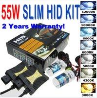 Wholesale 55W HID Xenon Headlight Conversion KIT H1 H3 H4 H7 H8 H9 H11 HB3 H10 HB4 H27 H13 K K K K K