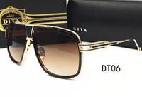 achat en gros de les hommes de luxe lunettes-2016 Nouvelles marques de luxe designer vintage Lunettes Retro DITA Grandmaster Lunettes de soleil homme femmes lunettes de soleil mode avec étui original
