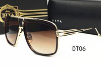 Wholesale 2016 Novel luxury brands designer vintage Eyewear Retro DITA Grandmaster Sunglasses women men shades Fashion sun glasses with original case