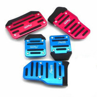 Wholesale Universal Aluminum Manual Series set Automatic set Non Slip Car Pedal Cover Set Kit
