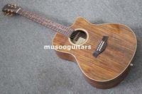 Compra Guitarras acústicas de marca-Nueva marca Koa serie B banda Pickup Electric Acoustic guitar