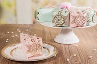 Wholesale Pink Green western style laser cut hollow wedding favor candy boxes CB6063 CB6061