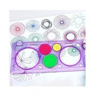 Wholesale Spirograph Geometric Ruler Drafting Tools Stationery Drawing Toys Set