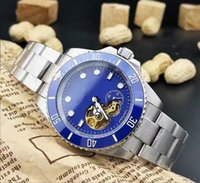 automatic watch movement types - The high quality leisure fashion men s wrist watch Calendar type full automatic mechanical movement minerals wear colorful mirror LLS
