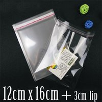Wholesale cmx16cm cm CRYSTAL CLEAR RECLOSABLE CELLOPHANE BAGS