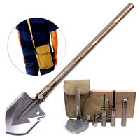 Wholesale Kimter Inch Shovel Entrenching Tool Auto Emergency Kit Survival Axe Camping Multitool Tactical Military Shovel F950L