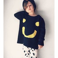 Cheap Pullover Girl Boy Smile Face Pullover Sweaters Best Unisex Spring / Autumn Baby Toddler Cotton Knitwear Jumper Wear