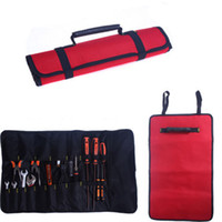 Wholesale Tools not include colors Hardware Kit Tool Roll Bag Plier Screwdriver Spanner Carry Case Durable Bag Red