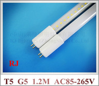 Wholesale LED tube G5 T5 LED tube light lamp fluorescent LED light M mm SMD2835 W T5 high bright driver inside AC85 V input