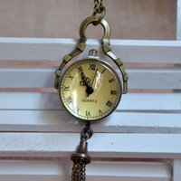 ball mens watch - Retro Vine Big Glass Ball Bull Eye Small Quartz Pocket Watch Analog Pendant Necklace Mens Womens Gifts A241