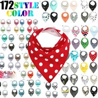 Wholesale 172 styles p cartoons INS fox bibs Burp Cloths new baby girls boys waterproof cotton double layer bibs burp cloths KIDS