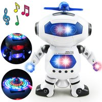 Wholesale Space Dancing Humanoid Robot Toy With Light Children Pet Brinquedos Electronics Jouets Electronique for Boy Kid