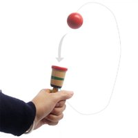 Wholesale Kendama Educational Coordination Game Sword Ball Skills Wooden Skill Toy Kids Cup Of Hand eye Coordination Exercise Ball Game Toy