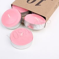 Wholesale 10PCs Box Birthday candle DIY Romantic Round Non smoke Candle Tealight Pack for Wedding and Festival Celebrating