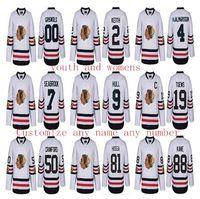 achat en gros de hiver classique jersey womens-2017 Winter Classic femmes personnalisées Hockey chandails Chicago Blackhawks 72 Artemi Panarin 50 Corey Crawford 88 Patrick Kane 2 Duncan Keith