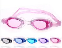 Wholesale Hot Sale Waterproof Anti Fog UV Child Professional Colored Lenses Diving Swimming Glasses Eyewear Swim Goggles Gafas Natacion DHL free shipp