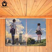 Wholesale CHARM HOME Your Name Taki Miyamizu Mitsuha Doormat Animation Film Poster Mat Floor Rug Rubber Non Slip quot quot L x W