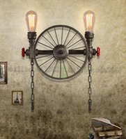 american lighting industry - Loft Retro Wall Lamp American Style Industry Wall Light Restaurant Bar Iron Wall Lamp Personality Water Pipe MYY