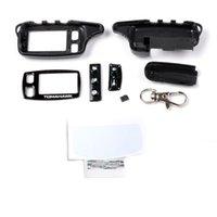 Keychain al por mayor-Libre del envío TOMAHAWK TW9010 para el sistema de alarma de dos vías TOMAHAWK TW-9010 controlador bidireccional del telecontrol del LCD de la alarma del coche