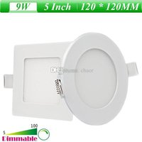 Wholesale 5 Inch W Round Square Recessed LED Anti fog Panel Lights Warm Nature Cool White LED Lighting AC V