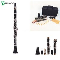 Wholesale Clarinet Bakelite Key Bb Flat Soprano Nickel Plating Exquisite with Cork Grease Cleaning Cloth Gloves Reeds Screwdriver