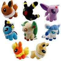 Wholesale Poke Plush Toys quot set Umbreon Eevee Espeon Jolteon Vaporeon Flareon Glaceon Leafeon Animals Soft Stuffed Dolls toy