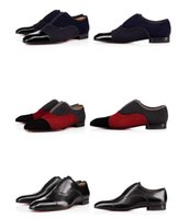 alpha business - Fashion Walking Flat Shoes Red Bottom Alpha Male Oxford Shoes Slip On Wedding Party Business Shoes Luxury Brand Loafers Shoes With Box
