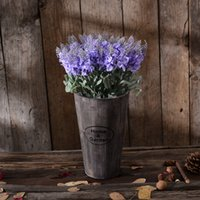 artificial wood flooring - Flower arranging barrel Rural creative fleshy flower pot Wooden crafts home decoration furnishing articles