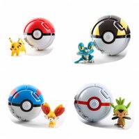 Wholesale 7cm Pop up Poke Ball pc Pokeball and pc Action Figure Touch Flip Elf Ball with Dolls