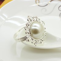 Wholesale Hot Sale Pearl napkin ring Multi appearance Colors Napkin Ring Serviette Weddings and Hotel supplies