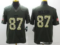 Wholesale Nelson New Arrivals Mens Packers Salute To Service Green Football Jerseys Stitched Name Number Free Drop Shipping minging1225
