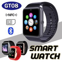Wholesale Bluetooth GT08 Smart Watch With SIM Card Slot and NFC Health Watches For Android Samsung And iPhone Smartphone Bracelet Smartwatch