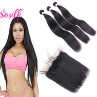 aliexpress virgin brazilian hair - 8A Mink Brazilian Virgin Hair Straight With Frontal Remy Human Hair Lace Frontal Closure With Bundles Braiding Hair Aliexpress