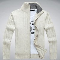 army outdoor clothes - Man Sweater Casual Mens cardigan thick turtleneck cashmere sweater clothes korean coats Outdoors outerwear winter Brand luxury cashmere